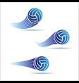 volleyball moving set vector image