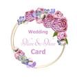 wedding wreath with peony flowers watercolor vector image vector image