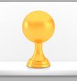 winner sphere cup award golden trophy logo vector image vector image