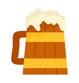 wood mug of beer icon flat style vector image vector image