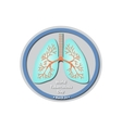World Tuberculosis Day - March 24 Lungs Baner vector image vector image