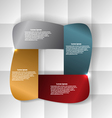 Abstract banner on a geometric background vector image