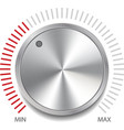 Volume Button Knob vector image