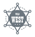 wild west logo simple style vector image