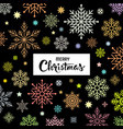 merry christmas colorful snowflake background vector image