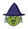cartoon witch icon vector image