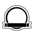 circular badge with ribbon design vector image