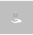 save earth computer symbol vector image