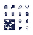 13 present icons vector image vector image