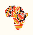 african continent map concept in tribal shapes vector image