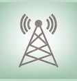 antenna sign brown flax icon vector image vector image