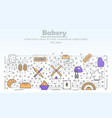 bakery bakehouse or bakeshop mono linear vector image
