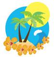 beach icon vector image