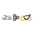 bike race template set vector image