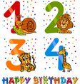 birthday cartoon design for boy vector image vector image