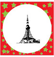 black 8-bit tokyo tower isolated on vector image vector image