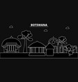 botswana silhouette skyline botswana city vector image vector image