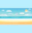 bright summer sky sea sand beach background vector image vector image