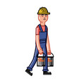 builder bears a paint vector image vector image