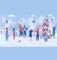 business company team celebrate christmas holiday vector image