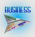 Business words logo vector image