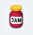 cherry jam jar icon hand drawn vector image