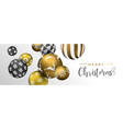 christmas gold bauble ornament web banner vector image vector image