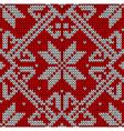 Christmas knitting pattern vector image