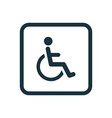 cripple icon Rounded squares button vector image
