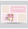 Cute Baby Girl Arrival Card - for Baby Shower vector image