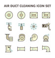 duct clean icon vector image vector image