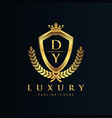dy letter initial with royal luxury logo template vector image vector image