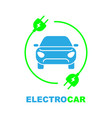 electro car logo flat digital icon for web and vector image