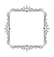 elegant stylish black vintage square frame vector image vector image