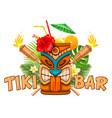 emblem of tiki bar vector image vector image