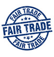 fair trade blue round grunge stamp vector image vector image