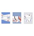 fashion abstract card design set banner brochure vector image