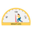 fat woman struggling with an arrow of weights vector image vector image