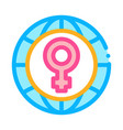 female sign world icon outline vector image vector image