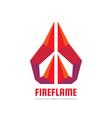 fire flame - logo template concept vector image