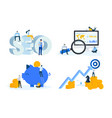 flat design concepts seo and finance vector image