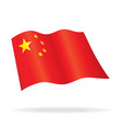 flying flag china vector image vector image