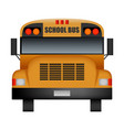 front of old school bus mockup realistic style vector image