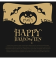 Halloween Party Design template with pumpkin vector image