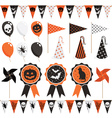 halloween party pack vector image vector image