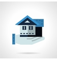 Hand with house flat color icon vector image vector image