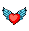 Heart retro tattoo symbol Cartoon old school vector image
