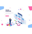 hiring concept isometric vector image vector image