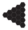 honey comb icon on white background flat vector image vector image