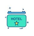 hotel icon design vector image vector image